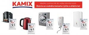 Kamix- odstránenie vodného kameňa práčka, kanvica, kávovar, ohrievač